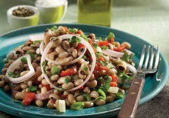 μαυρομάτικα φασόλια σαλάτα συνταγη