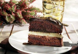 τούρτα τριπλής σοκολάτας σοκολατα παντεσπανι συνταγη αργυρώ