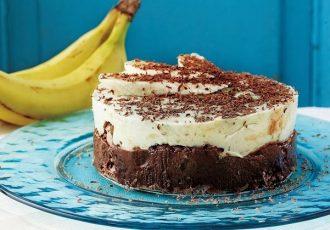 τούρτα σοκολάτα μπανάνα
