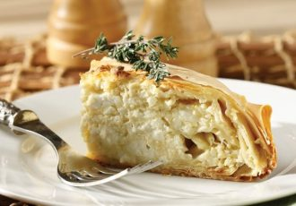 τυρόπιτα με ανθοτυρο κρέμα τυριού