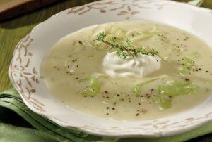 σούπα βελουτέ πράσου πρασόσουπα