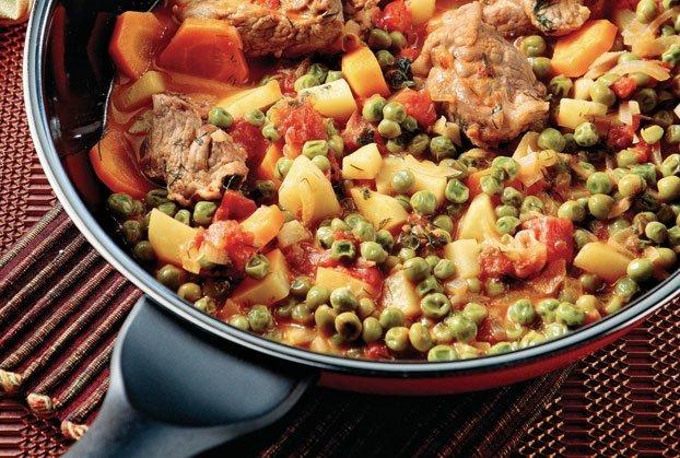 Χοιρινό µε λαχανικά στην κατσαρόλα