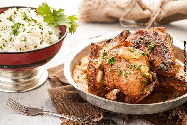 Ανατολίτικο κοτόπουλο με κρεμώδη σάλτσα-featured_image