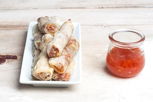 Τραγανά ρολά (Spring Rolls)με σάλτσα γλυκιάς πιπεριάς-featured_image