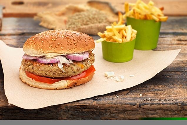 Cheeseburger (για χορτοφάγους) με λαχανικά,  χωρίς κρέας-featured_image