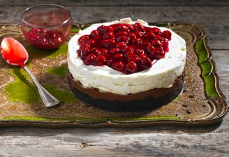 Cheesecake με Merenda και βύσσινο-featured_image