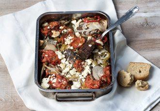 μοσχάρι με λαχανικά στο φούρνο