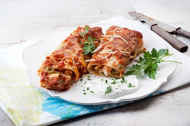 Enchiladas με κοτόπουλο