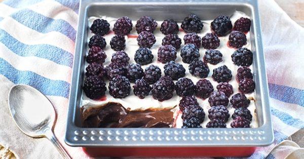 εύκολο γλυκό ψυγείου με σοκολάτα και κρέμα συνταγή