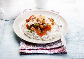 εύκολο κάρυ με ρεβύθια και ρύζι