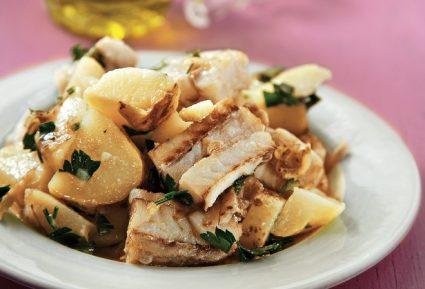 Ψάρι λεμονάτο με βραστή σαλάτα-featured_image