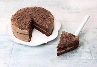 τούρτα με παντεσπάνι σοκολάτας