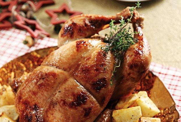 Γεμιστό κοτόπουλο στη γάστρα