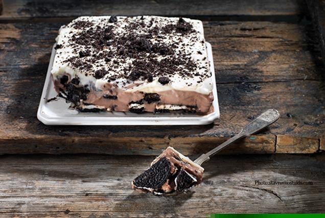 Γλυκό ψυγείου με μπισκότο