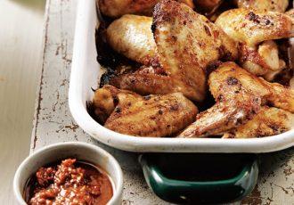 φτερούγες κοτόπουλο στο φούρνο με γλυκόξινη σάλτσα συνταγη