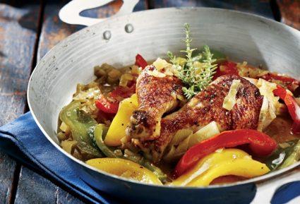 Καλοκαιρινή κότα με πιπεριές και μπίρα-featured_image