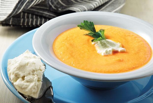Καροτόσουπα βελουτέ με πράσα