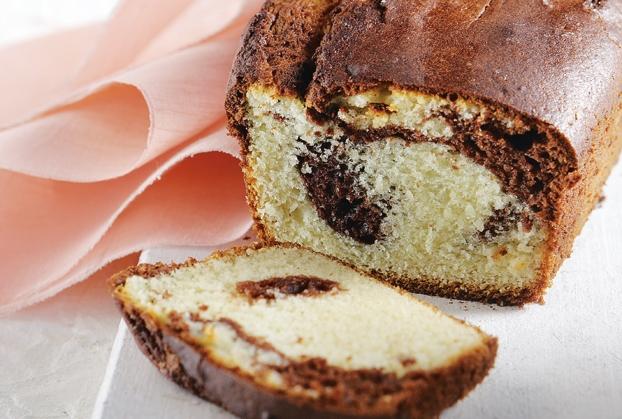 Κέικ βανίλια κακάο με γιαούρτι