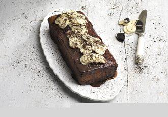 κέικ με μπανάνες και μπισκότο