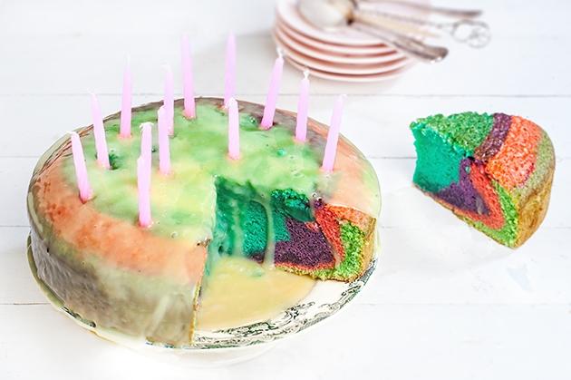 Τούρτα κέικ ουράνιο τόξο (Rainbow cake)