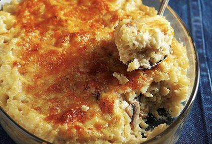 Κοραλάκι με μανιτάρια αλά κρεμ στο φούρνο-featured_image