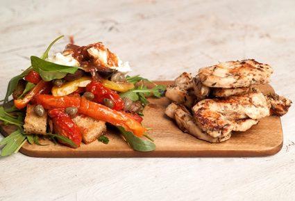 Κοτόπουλο στη σχάρα και ιταλική σαλάτα-featured_image