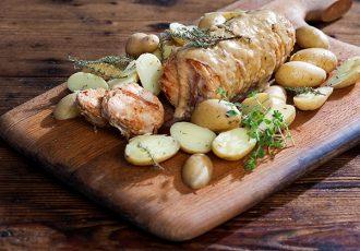 ρολό κοτόπουλο στην κατσαρολα