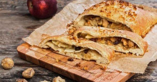 κλειστή μηλόπιτα με καρύδια και κάστανα χωρις μιξερ