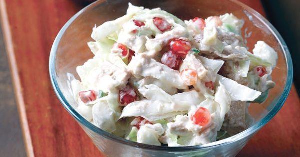σαλάτα λάχανο με τόνο