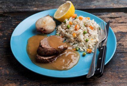 Μοσχάρι λεμονάτο με ρύζι-featured_image