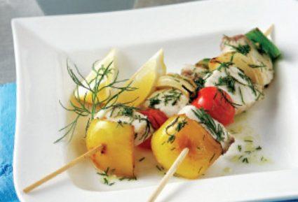 Μαριναρισμένο σουβλάκι ξιφία με λαχανικά-featured_image