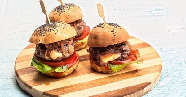 μίνι μπέργκερ για παιδικό πάρτυ burgers ψωμακια mini burger