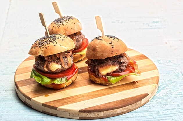 Mini burger για παιδικό πάρτυ