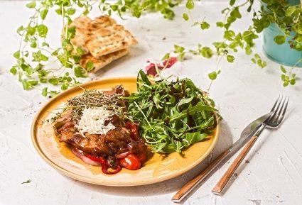 Μπριζολάκια με βαλσαμικό ξίδι και καραμελωμένα λαχανικά-featured_image