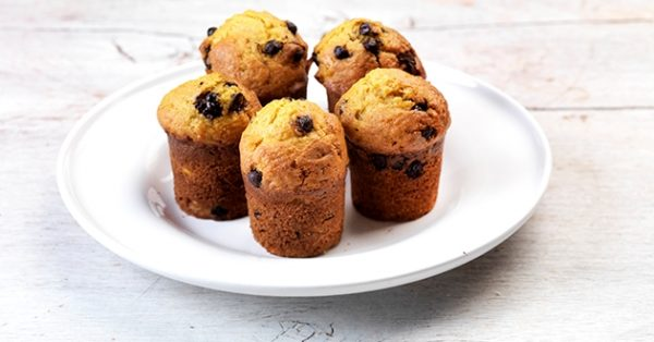 muffins με σοκολάτα