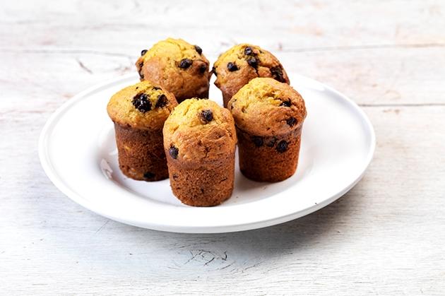 Muffins με σοκολάτα χωρίς ζάχαρη και χωρίς γλουτένη