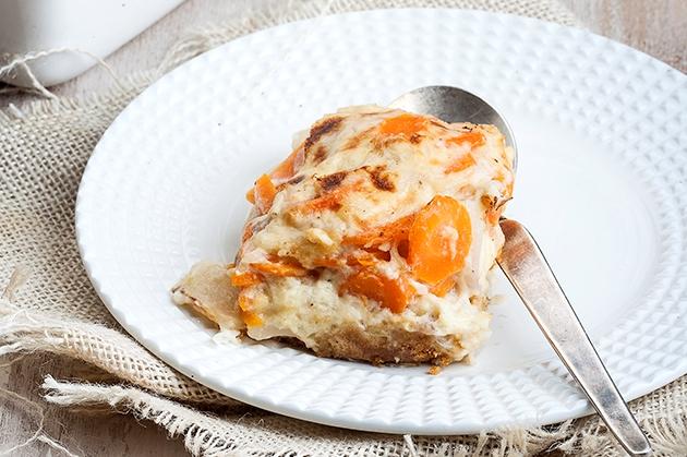 Ογκρατέν με λαχανικά και μπισκότο