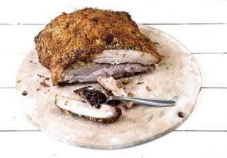 χοιρινή πανσέτα φούρνου με τραγανή κρούστα στο φούρνο