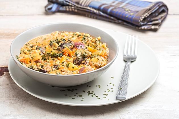 Κριθαράκι με λαχανικά και όσπρια