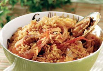 ρύζι πιλάφι με θαλασσινά