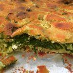 μπατζίνα με σπανάκι φέτα και καλαμποκάλευρο παραδοσιακή εύκολη πίτα χωρίς φυλλο