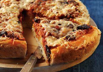 πίτα σαν πίτσα συνταγη πιτα πιτσα