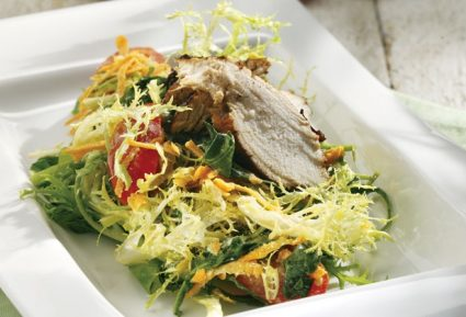Πράσινη σαλάτα με ψητό κοτόπουλο-featured_image