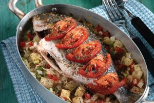 Ψάρι στο φούρνο με λαχανικά-featured_image