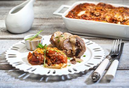 Ψαρονέφρι γεμιστό και πουρές με σάλτσα μανιταριών-featured_image