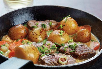 Ψαρονέφρι με πατάτες και κρεμώδη σάλτσα-featured_image
