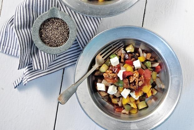 Ψητά λαχανικά με καραμελωμένα καρύδια