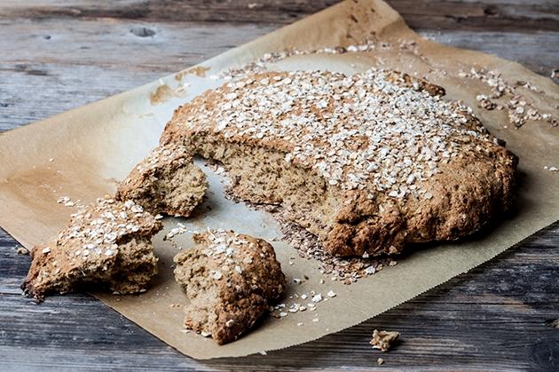 Ψωμί ολικής αλέσεως σε 5′ χωρίς ζύμωμα