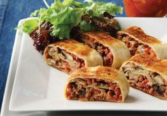 ρολάκια πίτσας με αραβικές πίτες