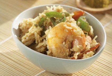 Ρύζι με κάρι, πιπεριές και γαρίδες-featured_image